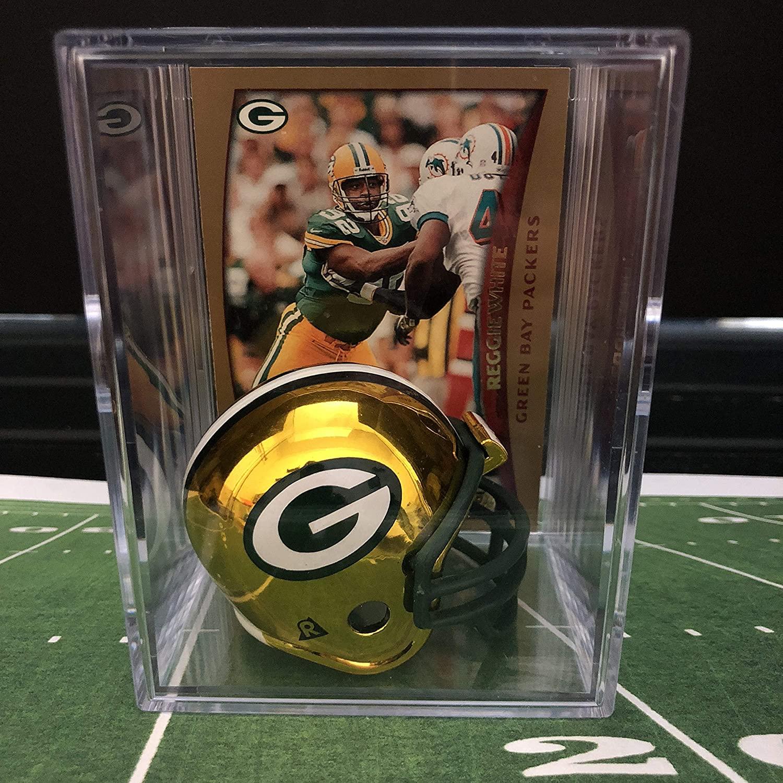 Chrome Edition Green Bay Packers NFL Helmet Shadowbox w/Reggie White card
