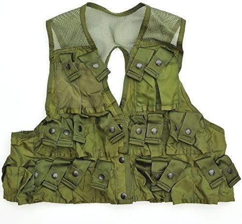 US Army Military 24 Pockets OD Green Ammunition Carrying Vest LBV FLC Large L