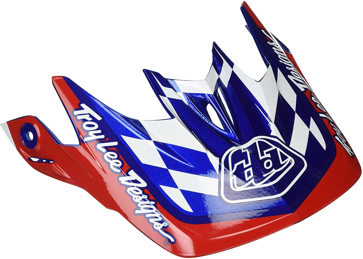 Troy Lee Designs D3 Replacement Visor Team Metal Flake Blue