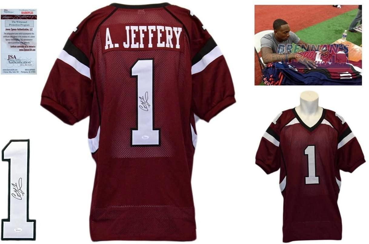 Alshon Jeffery Signed Custom Jersey - JSA Witnessed - Autographed w/ Photo - College