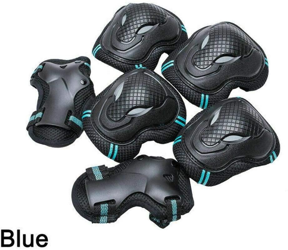 ZoeDul 6Pcs Skating Protective Gear Sets Elbow Knee Pads Bike Skateboard Kit Adult US