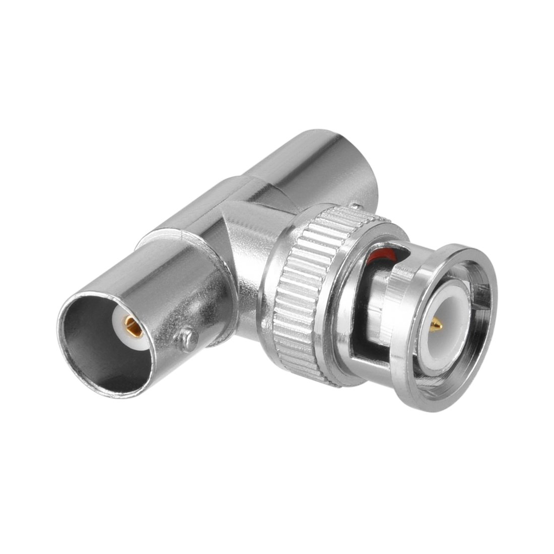 uxcell 3 Way BNC Male to Female Coaxial Connectors with Brass Inner Core for CCTV Home Security 4pcs