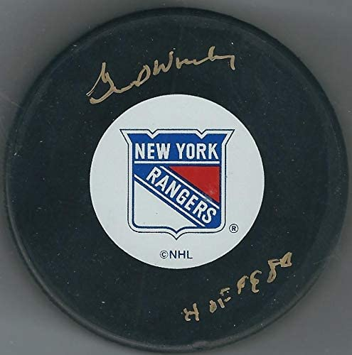 Gump Worsley Autographed Hockey Puck - Autographed NHL Pucks