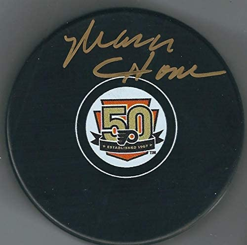 Mark Howe Autographed Puck - 50th Anniversary - Autographed NHL Pucks