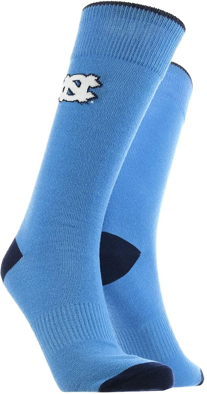 North Carolina Tar Heels Dress Socks NCAA Fanwear Crew Length