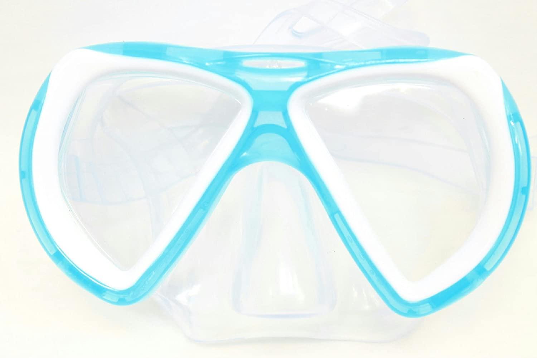 Splash N Swim Child Mask Goggle Pool Water Sport Cover Protect Aqua/White