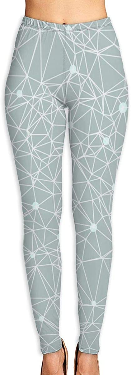 Girl Yoga Pants Leggings Polygonal Diamond Running Workout Power Stretch Long Trousers Sports Gym