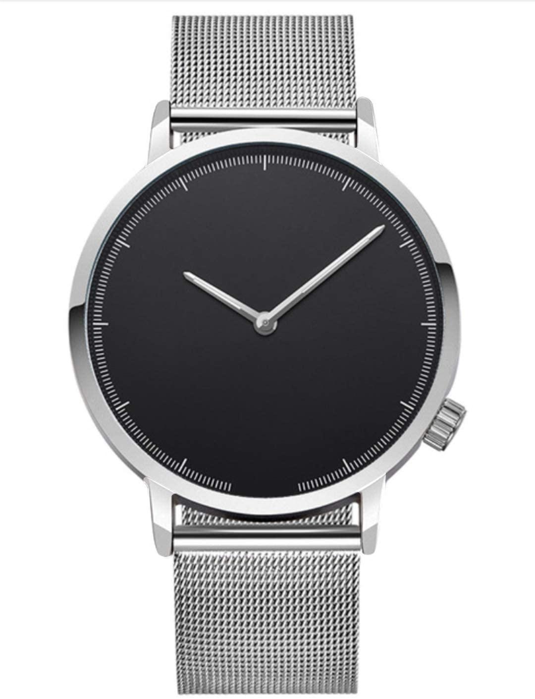 Mens Business Watch Classic Gold Quartz Stainless Steel Wrist Watch Watches En Clock