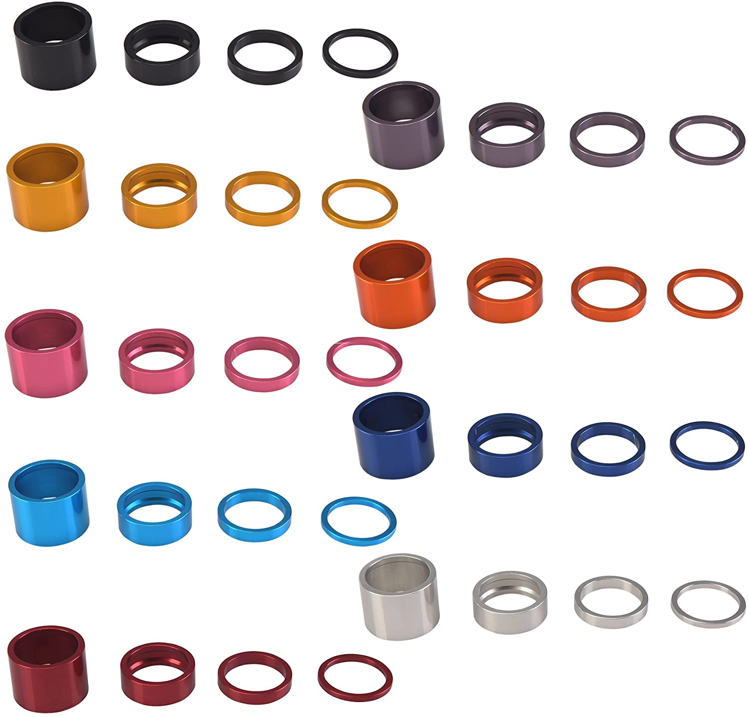Chris King Pretty and Strong Parts Spacer Kit 1-1/8