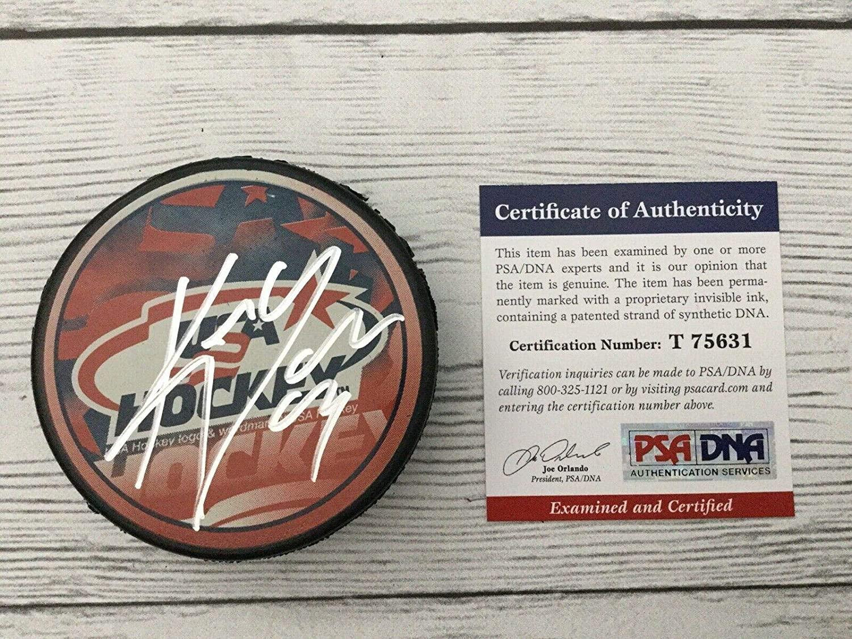 Keith Yandle Signed Hockey Puck - Team USA U.S.A COA b - PSA/DNA Certified - Autographed NHL Pucks