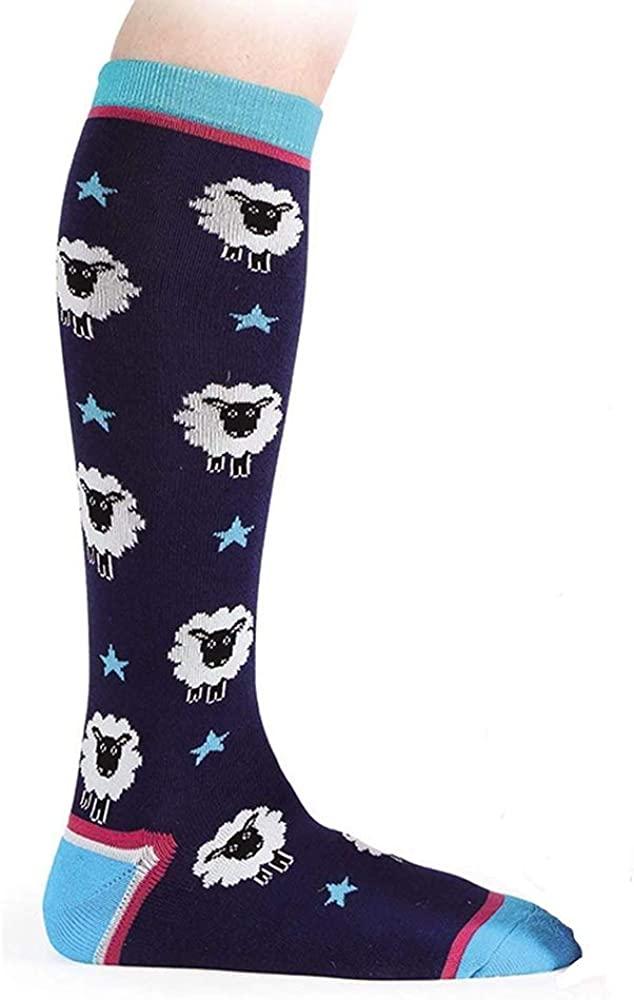 Shires, Everyday Socks Navy Sheep Childs