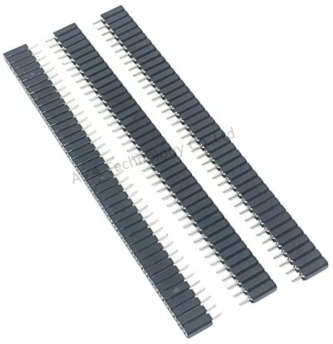 Davitu Electrical Equipments Supplies - 5PCS 1X40 PIN Single Row Round Female PIN Header 2.54MM Pitch Insulator 7.0MM Strip Connector Socket 40p 40PIN 40 PIN for PCB
