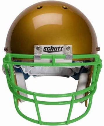 Schutt Kelly Green Reinforced Oral Protection (ROPO) Full Cage Football Helmet Face Guard from