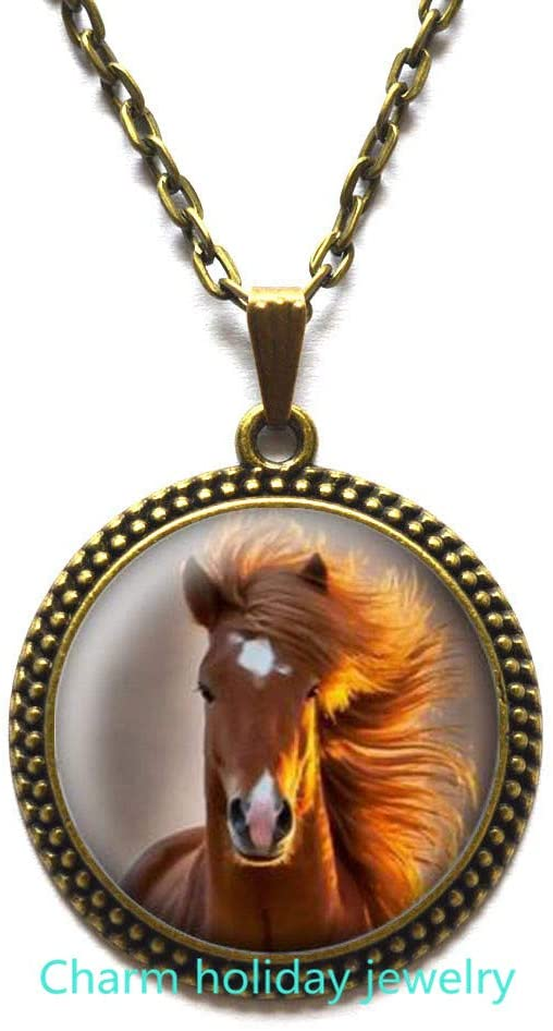 Horse Jewelry Horse Gifts Horse Necklace Personalized for Women for Jewelry for Horse Lovers Silver Gold Heart Horse Pendant for s-#137