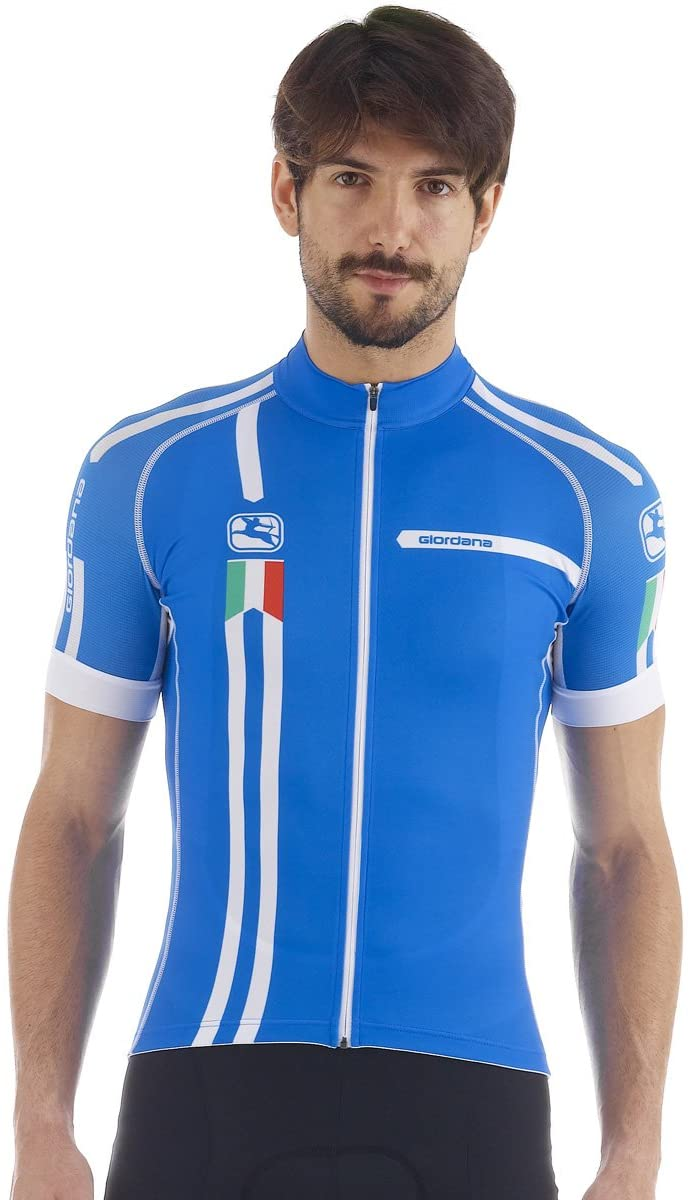 Giordana Mens Azzurro Trade Scatto Short Sleeve Cycling Jersey - GI-S5-SSSC-AZZU