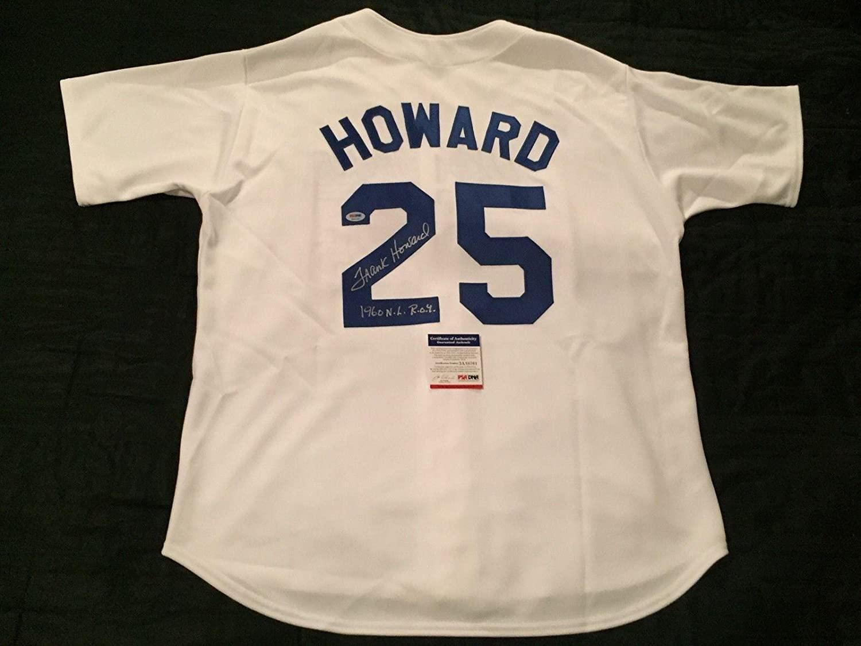 Frank Howard Signed Los Angeles Dodgers Baseball Jersey