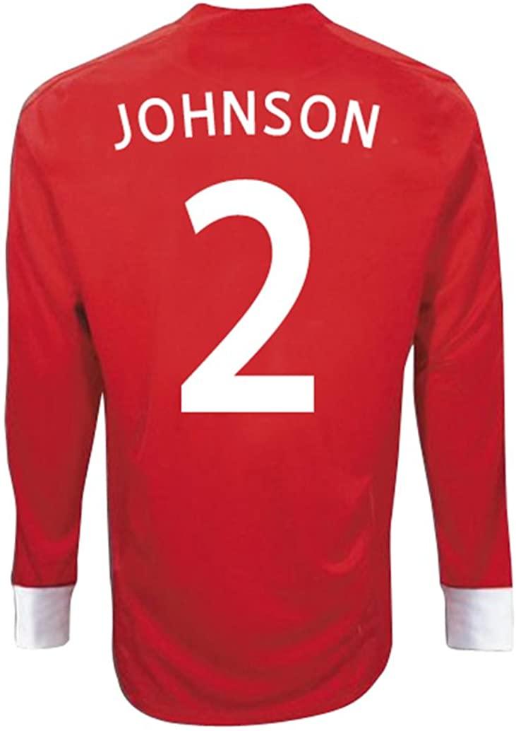 Umbro JOHNSON #2 England Away Jersey Long Sleeve