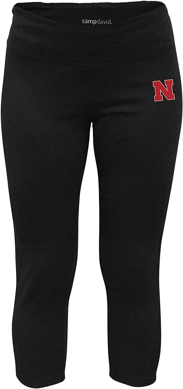 NCAA Crosstown Women's Cropped Active Lifestyle Pant, Nebraska Cornhuskers, Black, Small
