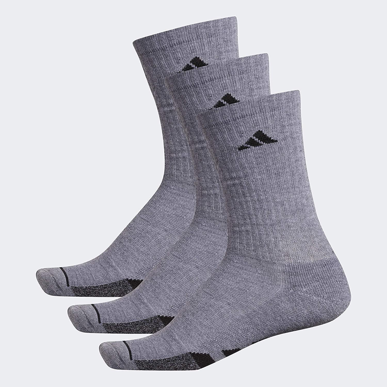 adidas Men's Cushioned Crew Socks (3-Pair)