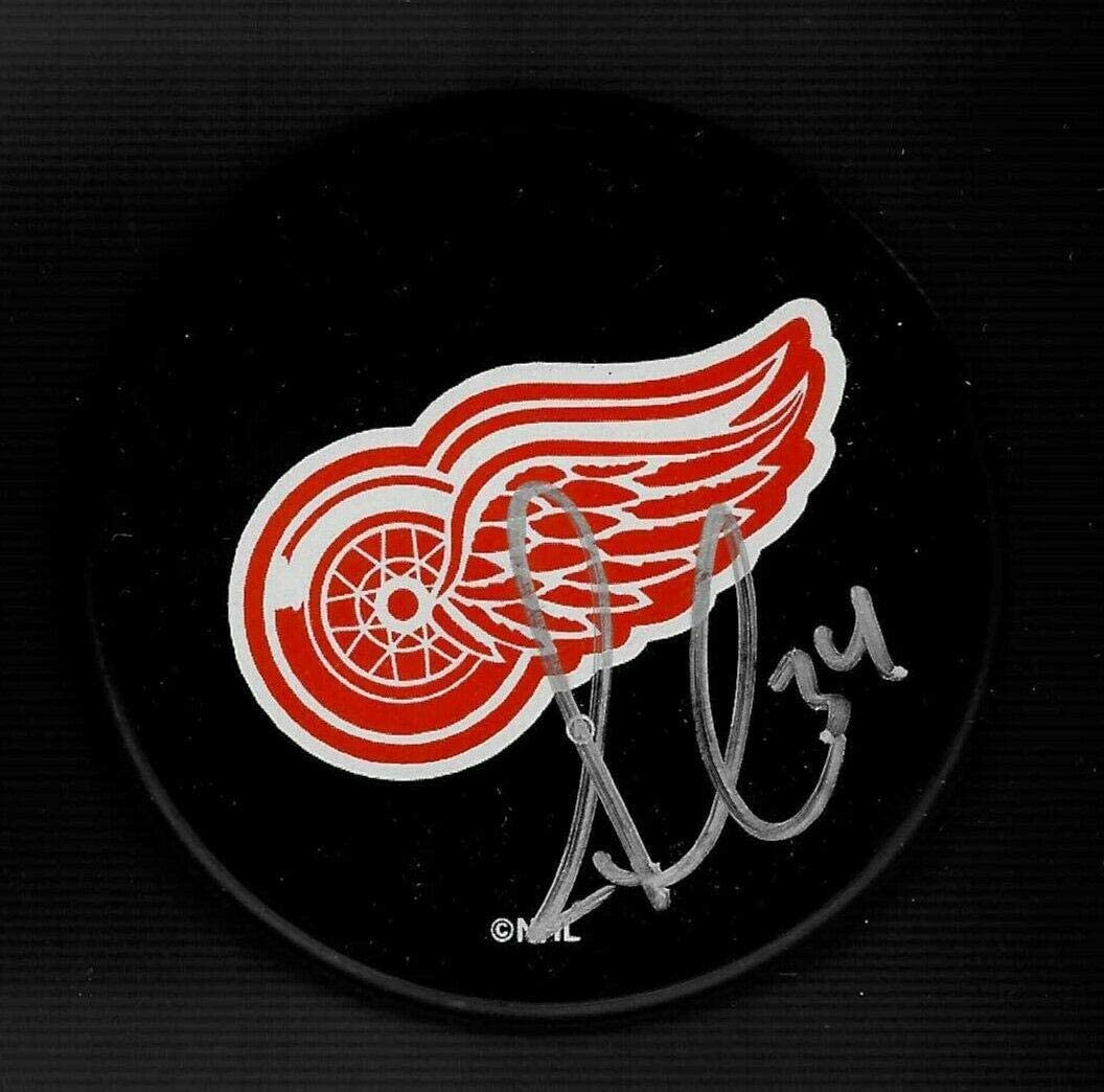 Jaime Macoun Signed Detroit Red Wings Souvenir Puck - Autographed NHL Pucks