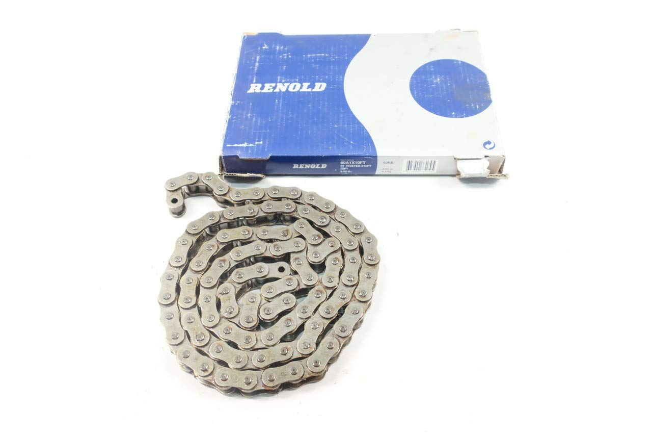 RENOLD 60A1X10FT Single Roller Chain 10FT 3/4IN