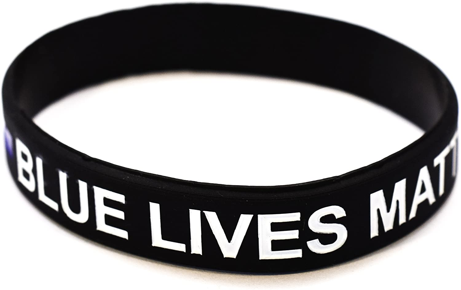 Blue Lives Matter Wristbands with Thin Blue Line