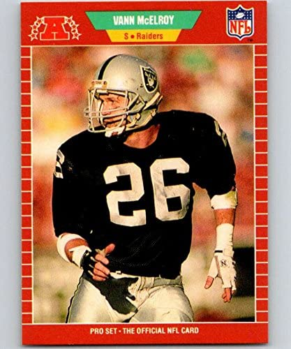 1989 Pro Set #187 Vann McElroy LA Raiders NFL Football