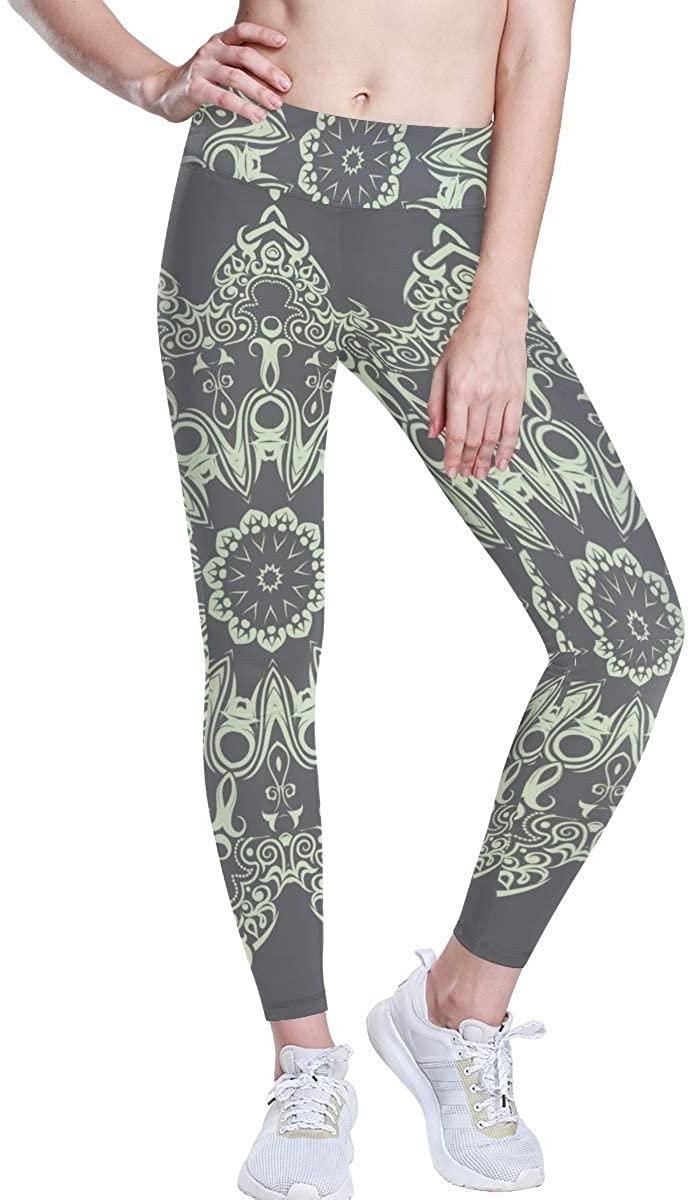 senya High Waist Yoga Leggings for Women, Breathable Women's Yoga Pants Elegant Mandala Workout Leggings Flex Running Tights