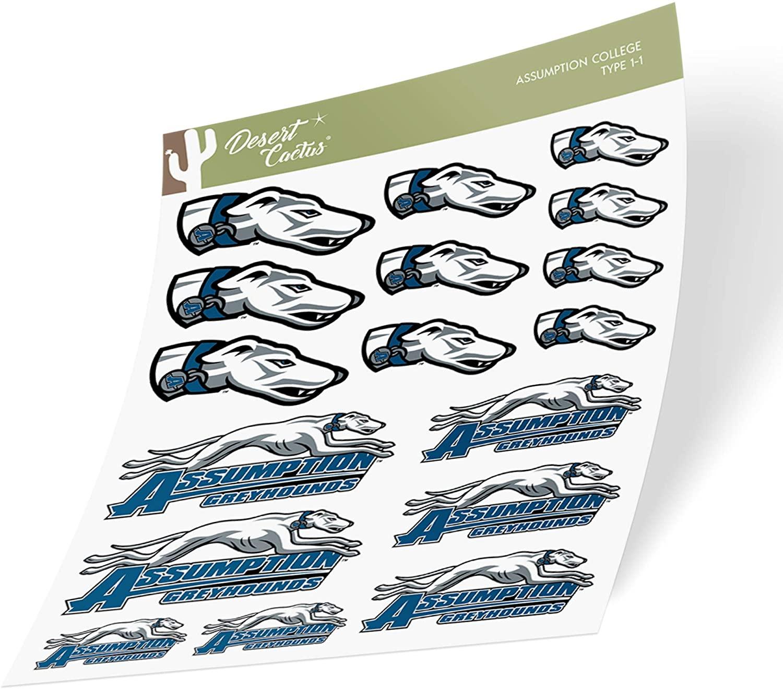 Assumption College NCAA Sticker Vinyl Decal Laptop Water Bottle Car Scrapbook (Type 1-1 Sheet)