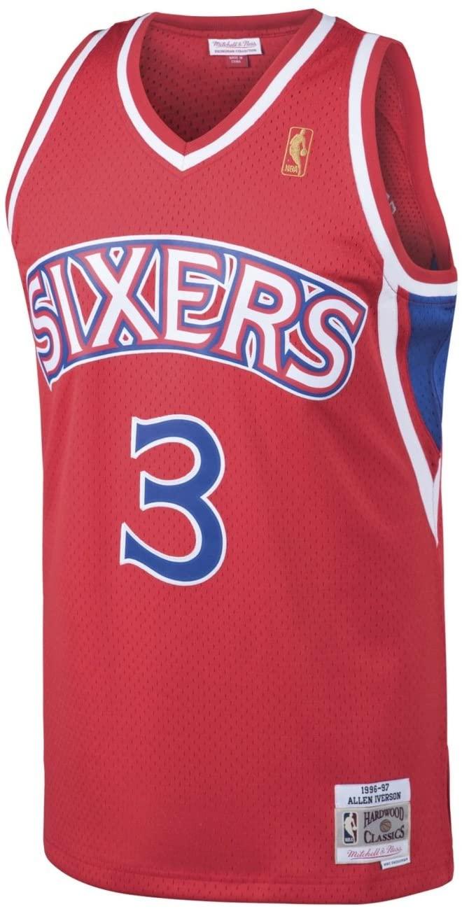 Outerstuff Allen Iverson Philadelphia 76ers NBA Mitchell & Ness Youth Swingman Jersey - Red