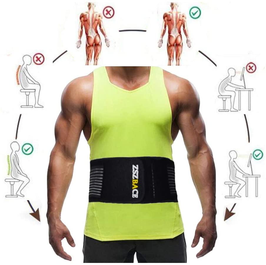 ZSZBACE Waist Trimmer, Best Abdominal Waist Trainer, Slim Body Belt, Slimmer Kit, Weight Loss Wrap, Stomach Fat Burner,Workout Sweat Enhancer Exercise for Men Women