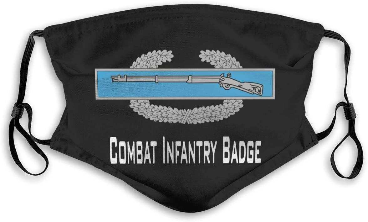 Combat Infantry Badge (CIB) Reusable Dust Mask Travel Masks with Filter Breathable Safety Dust Face Mask