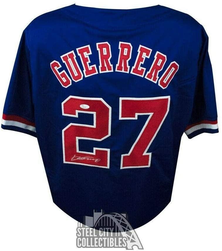 Autographed Vladimir Guerrero Jersey - Custom Vladdy Blue COA - JSA Certified - Autographed MLB Jerseys