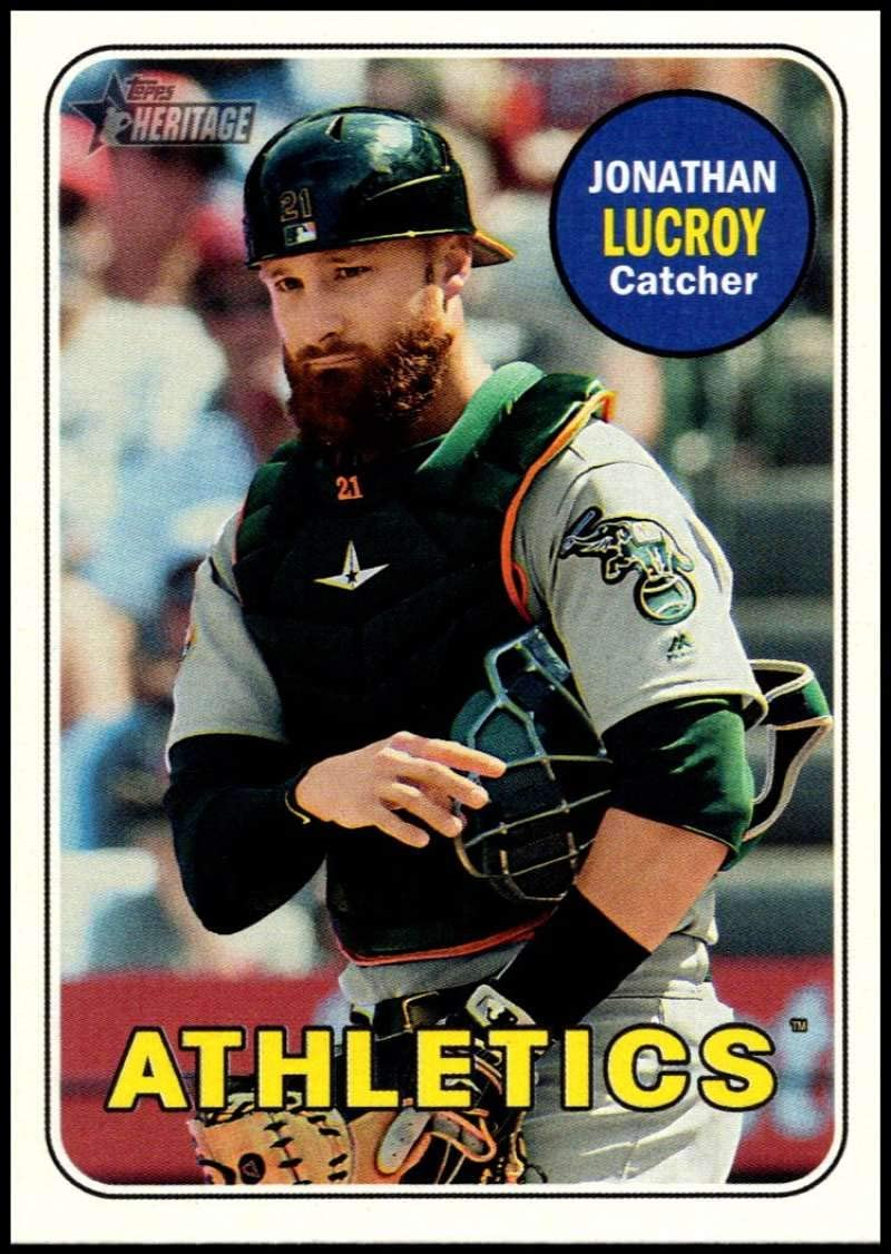 2018 Topps Heritage High Number Baseball #517 Jonathan Lucroy Oakland Athletics Official MLB Trading Card