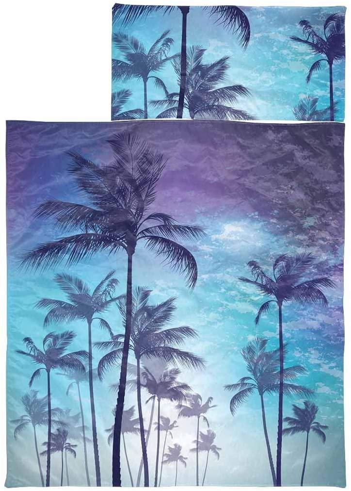 InterestPrint Warm Sleeping Bag for Toddler Boys and Girls Palm Tree Moonlight