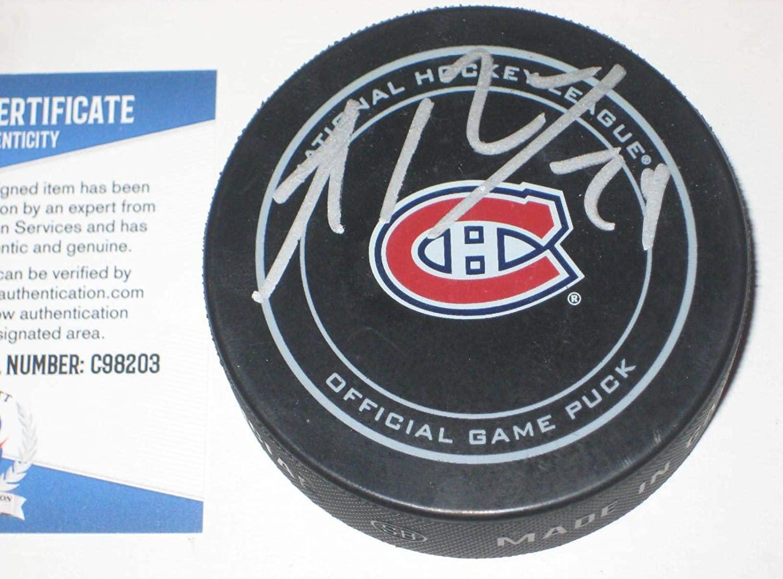 Autographed Phillip Danault Hockey Puck - Official w Beckett COA - Beckett Authentication - Autographed NHL Pucks