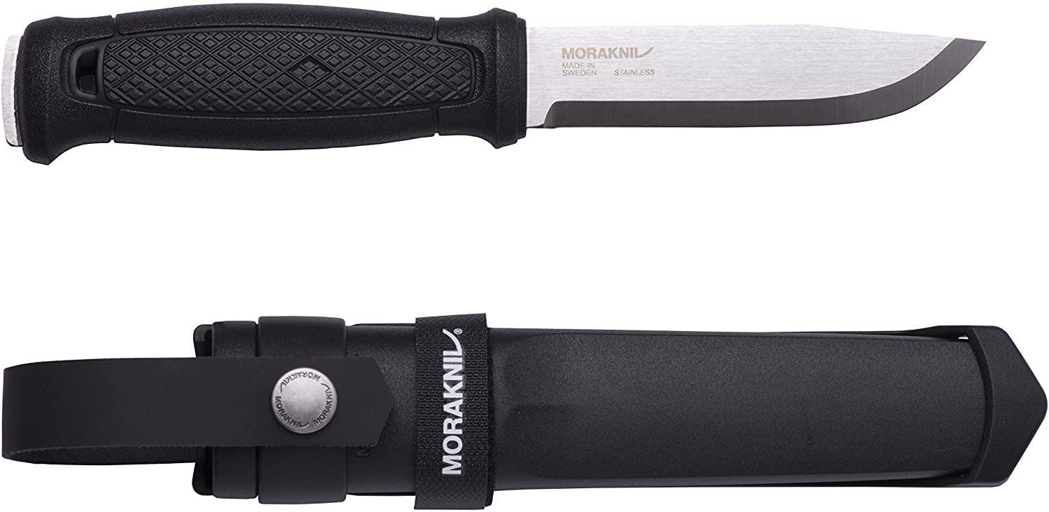 Morakniv Garberg Full Tang Fixed Blade Knife with Sandvik Stainless Steel Blade, 4.3-Inch