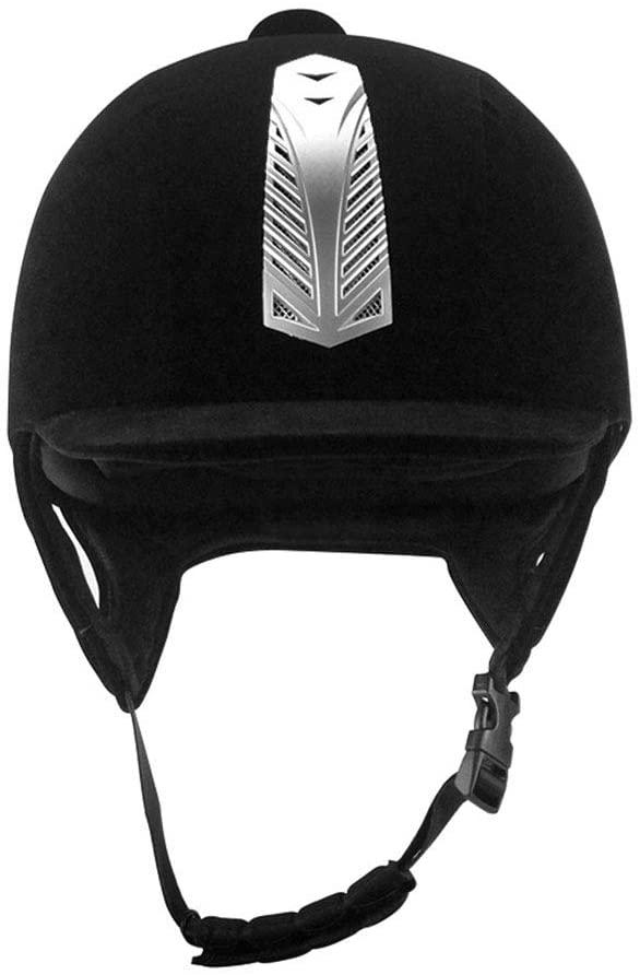 CenYC Equestrian Helmet, Horse Riding Sport Helmets, Black Velvet Comfortable Riding Hats Breathable 56CM, 58CM,60CM Adult Women Men