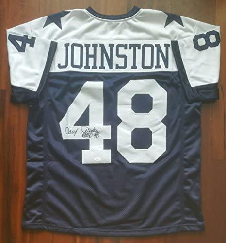 Daryl Moose Johnston Autographed Signed Jersey Dallas Cowboys JSA