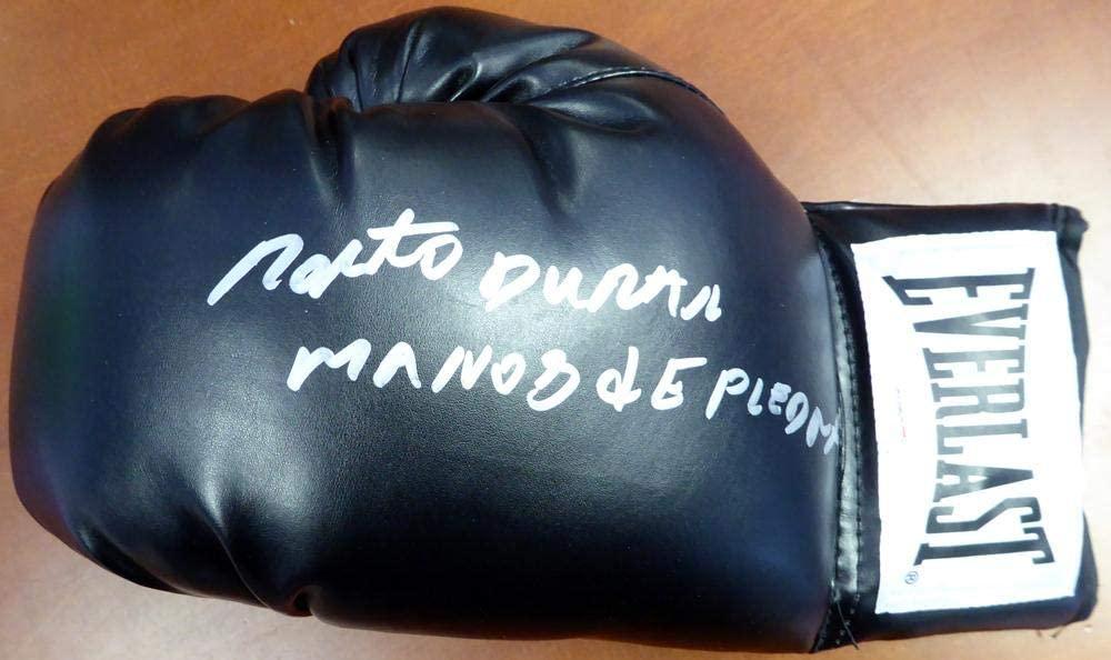 Roberto Duran Autographed Black Everlast Boxing Glove LH