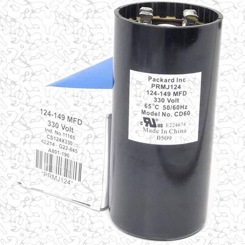 Packard PRMJ124 Packard 330V Start Capacitor 124-149 MFD