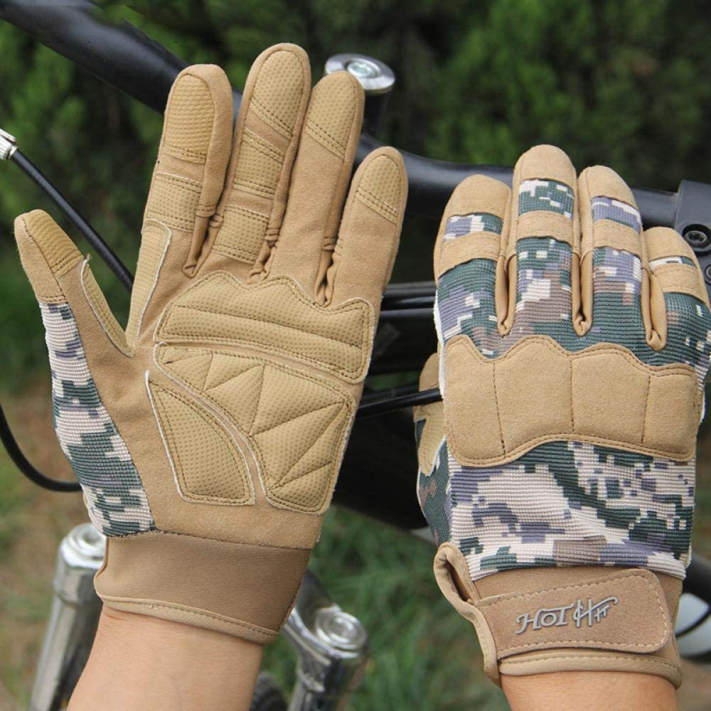 Lawaia CINGHI LUSSO Outdoor Sport Men Women Long Full Finger Camouflage Camouflage Tactical Gloves Wholesalers Touch Screen Mitten Male, Emerald Green,L