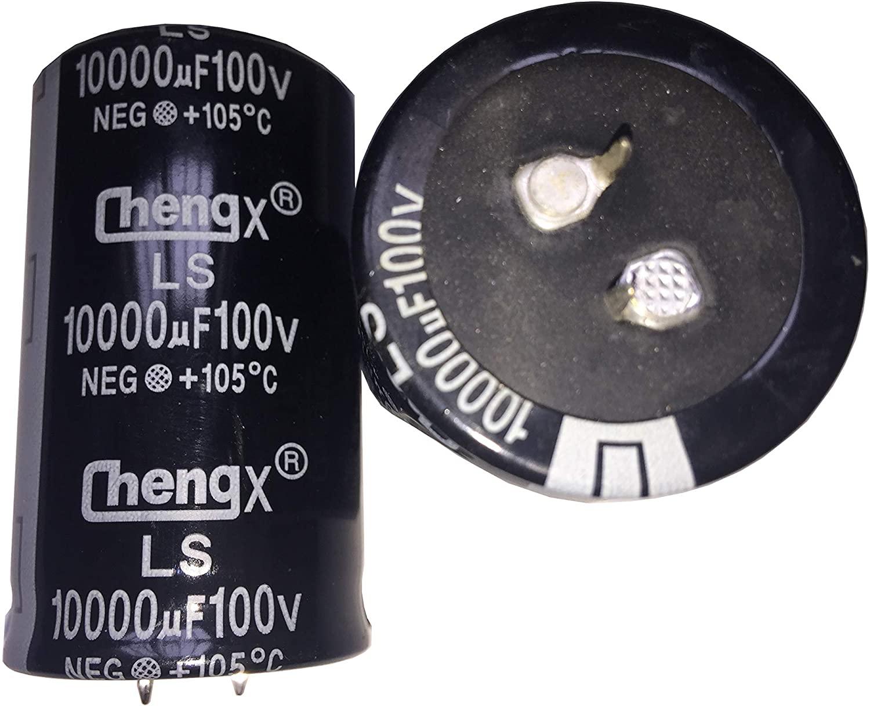 Snap In Capacitors 10000uF 100V 35X60(MM) 2 PCS