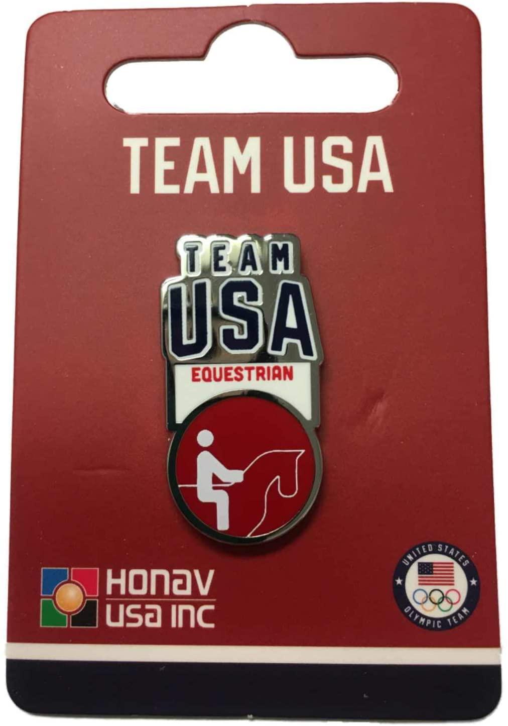 2020 Summer Olympics Tokyo Japan Team USA Equestrian Pictogram Metal Lapel Pin