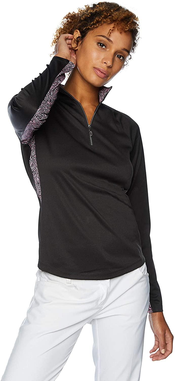 Greg Norman Women's Dianna Long Sleeve 1/4-Zip Mock