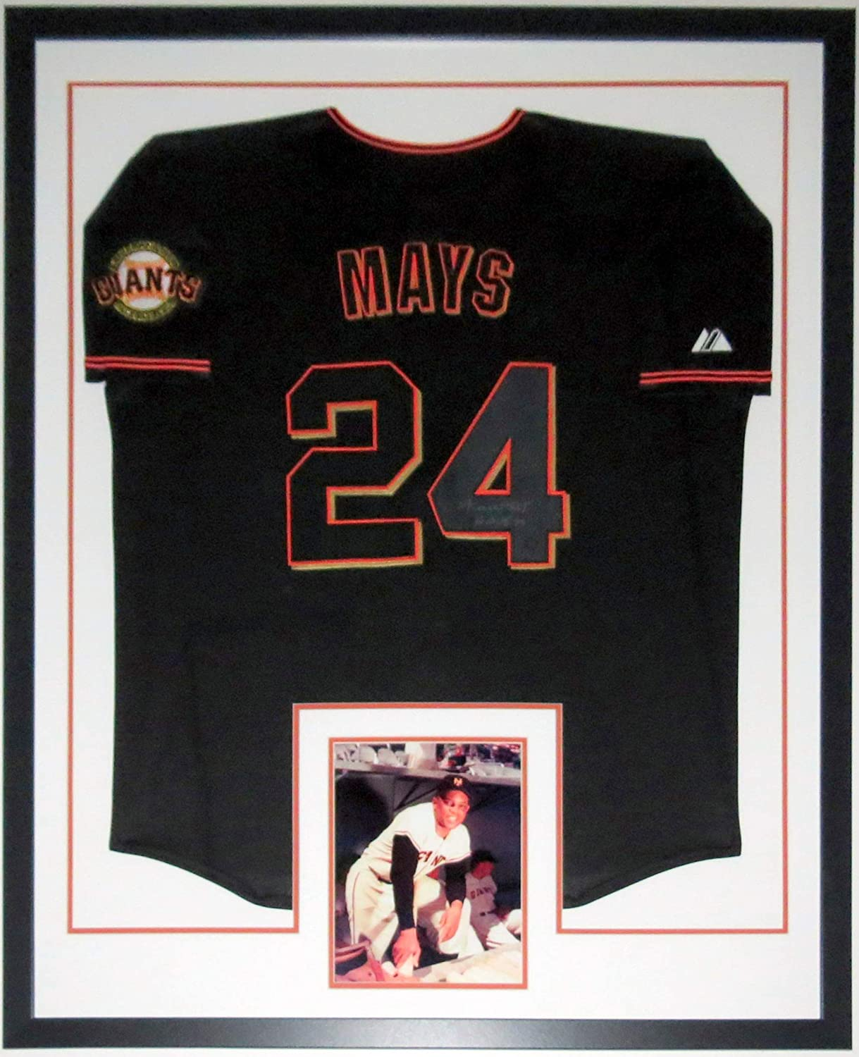 Willie Mays Authentic Signed Giants Jersey - Say Hey Authenticated COA - Professionally Framed & 8x10 Photo