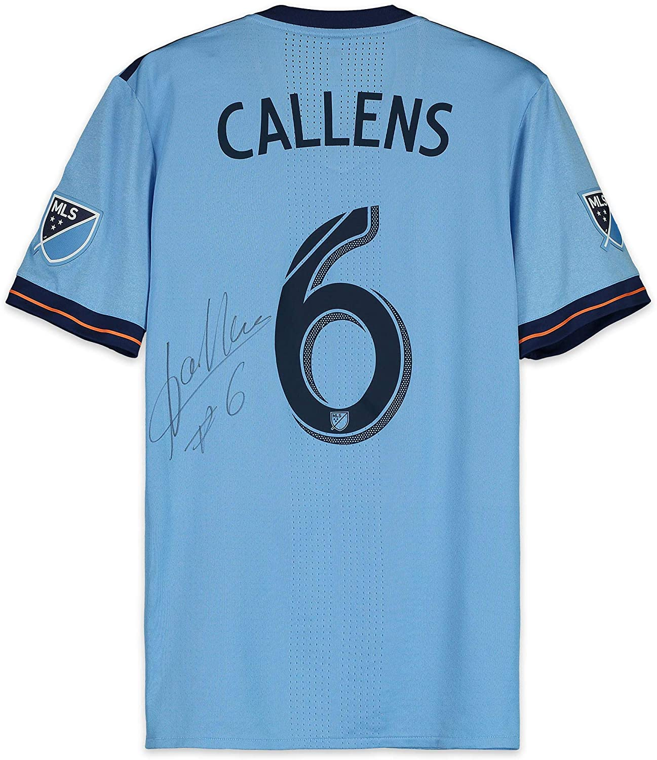 Alexander Callens New York City FC Autographed Match-Used Blue #6 Jersey from the 2018 MLS Season - Fanatics Authentic Certified