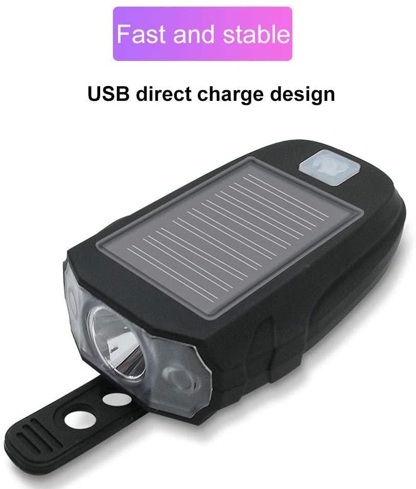 Solar Power USB Charging T6 Bike Light Bicycle Front Handlebar Cycling LED Lamp