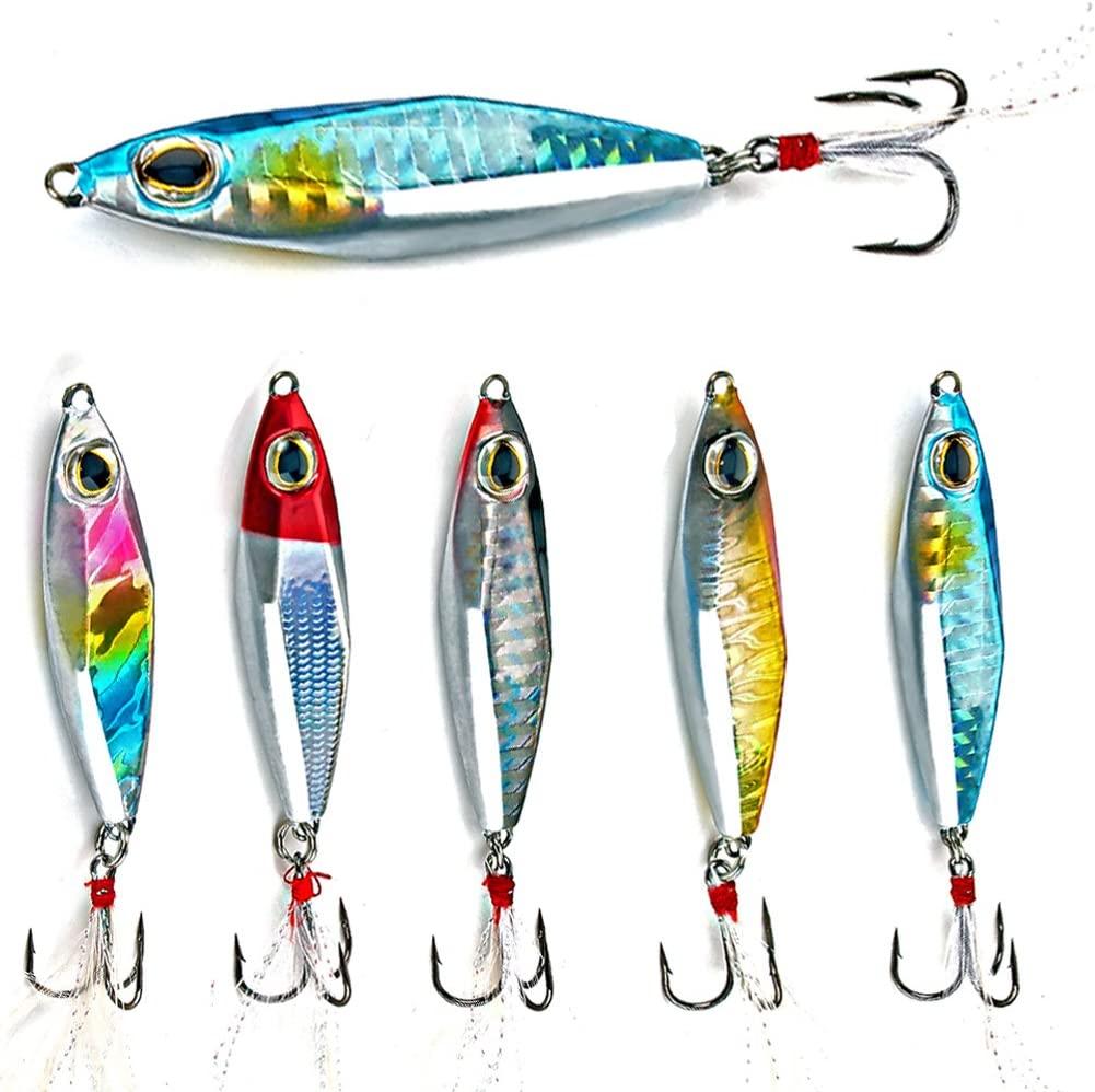 Sougayilang Jigs Fishing Lures Sinking Metal Spoons Micro Jigging Bait