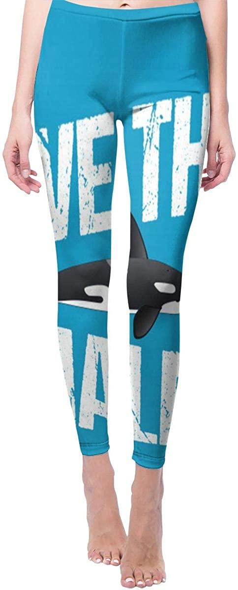 Ruin Yoga Pants Save The Whales High Waist Skinny Leggings Sweatpants